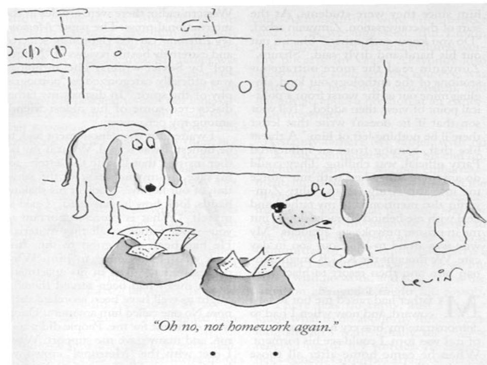 Do your own homework Avoid host/parasite relationships! Avoid host/parasite relationships!