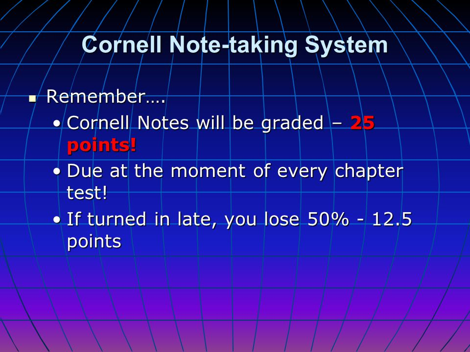 Rereading Cornell Notes Step 3: Fill in additional cue words in the left-hand column Cornell Notes force students to do this automatically. Cornell No