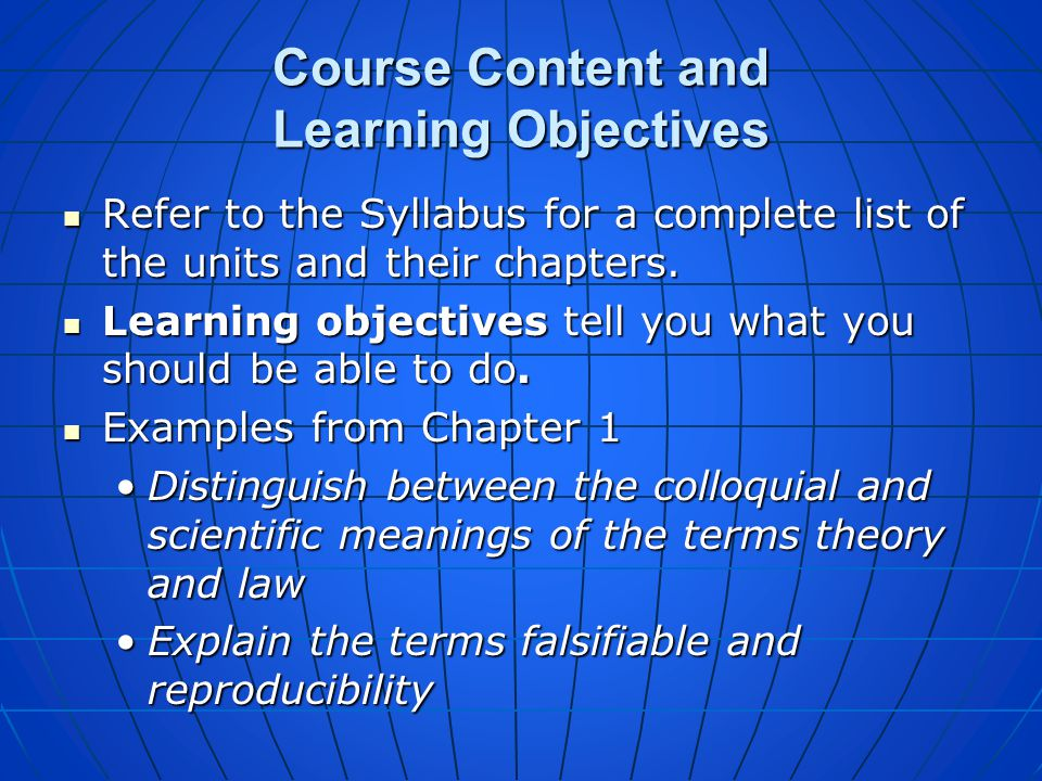 Course Content and Rules