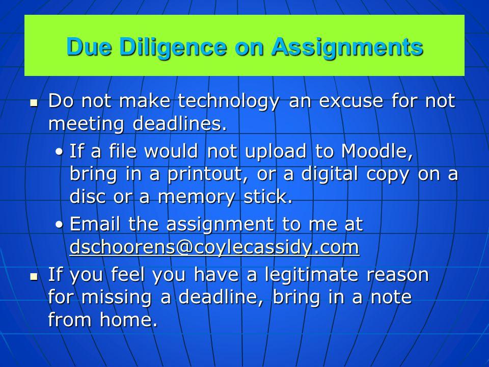Homework Deadlines Homework assignments will be posted on FirstClass.