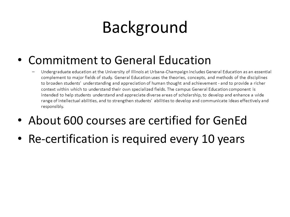 Governing Documents Senate Committee on Educational Policy – Proposal for Revision of Undergraduate General Education Requirements, 1989 (EP.89.09) General Education Board (GEB) – Guidelines for General Education Courses, Revised 2002 (GB.91.02)