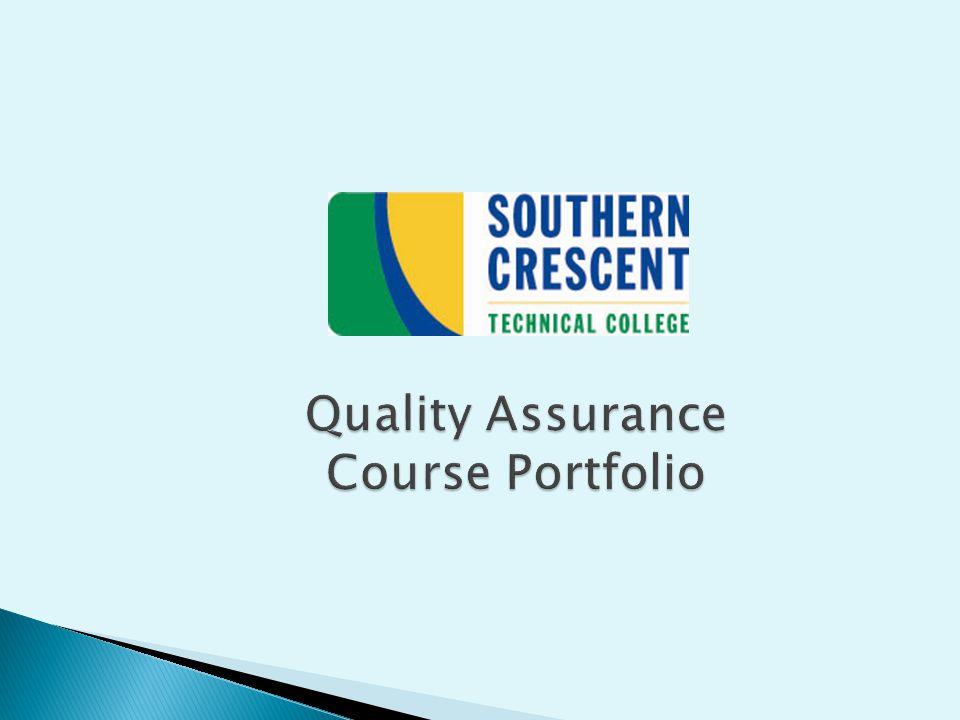 Quality Assurance Course Portfolio