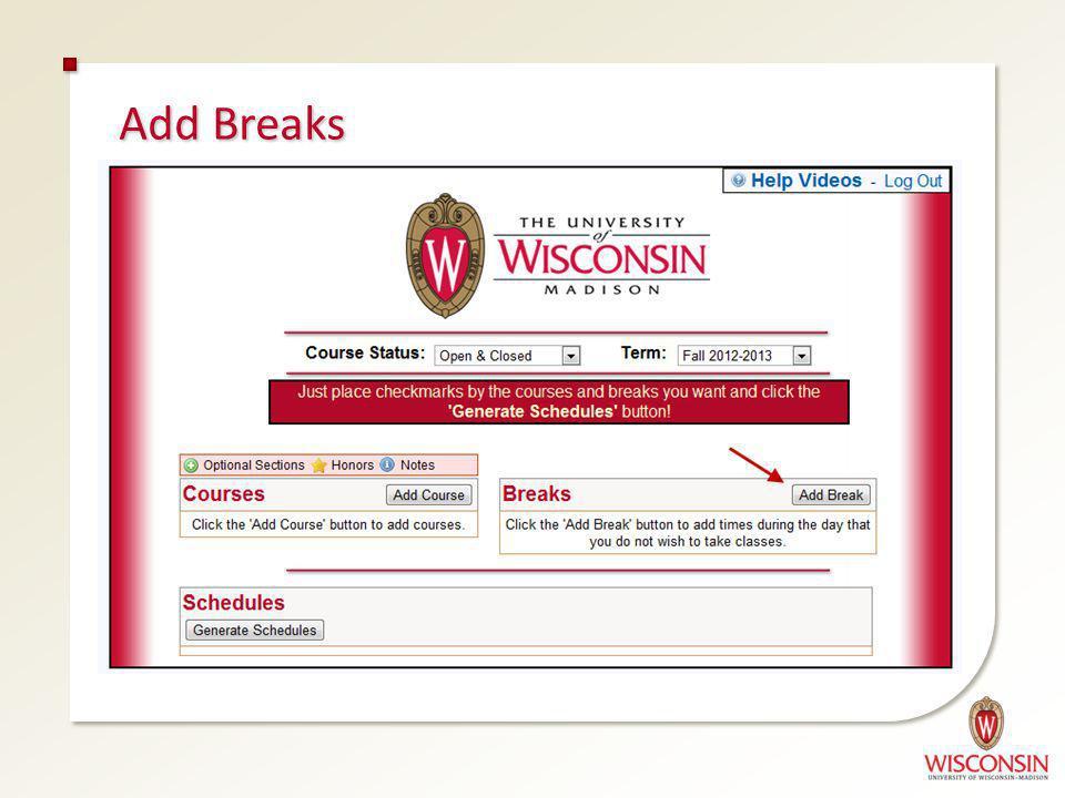 Add Breaks