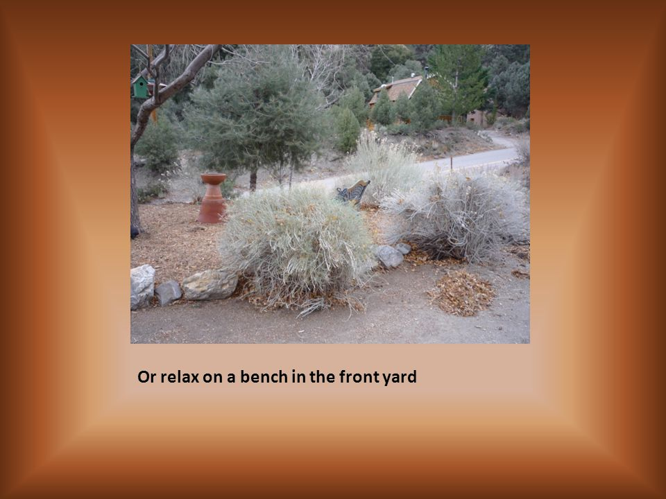 Or relax on a bench in the front yard