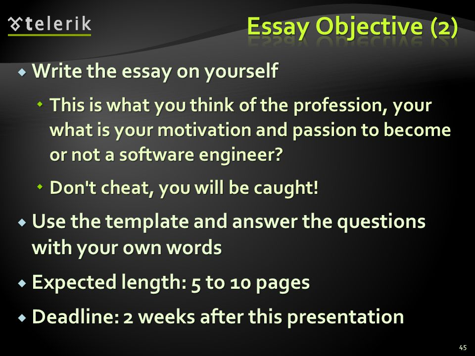 Write the essay on yourself Write the essay on yourself This is what you think of the profession, your what is your motivation and passion to become o