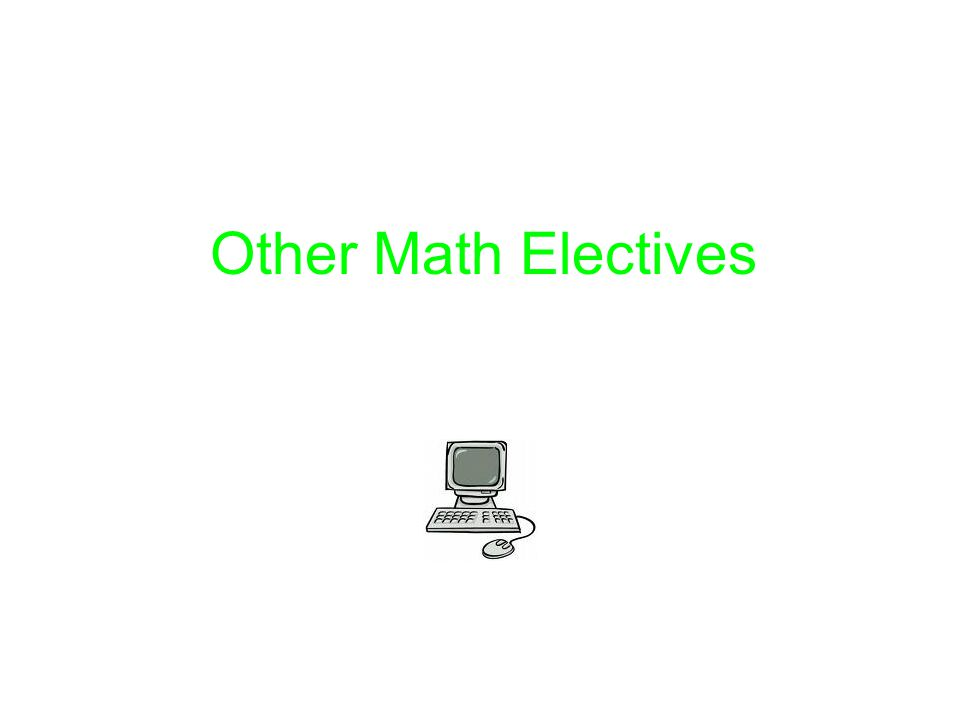 Other Math Electives