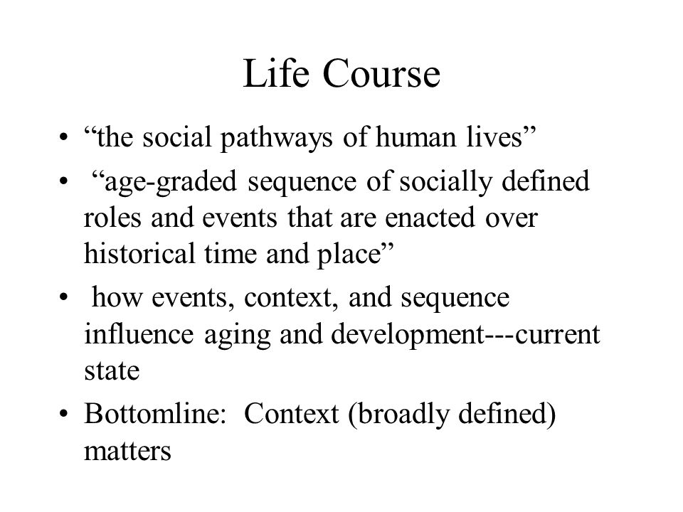 What does one do with this Mental Health and Social Adaptation Following the Transition from High School –Aseltine and Gore Ethnography and the Meaning of Adolescence in High Risk Neighborhoods –Burton Relationship of Childhood Abuse and Household Dysfunction to Many of the Leading Causes of Death in Adults –Felitti, Anada, Nordenburg et al Gender, Resources Across the Life Course, and Cognitive Functioning in Egypt –Yount