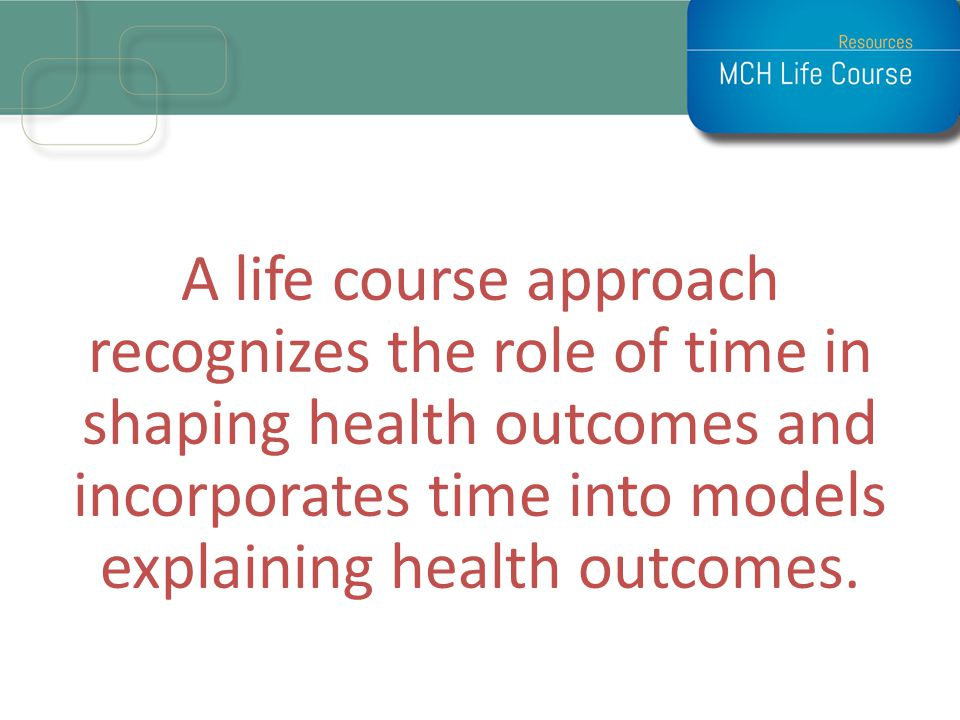 How Time Matters Individuals health changes over time.