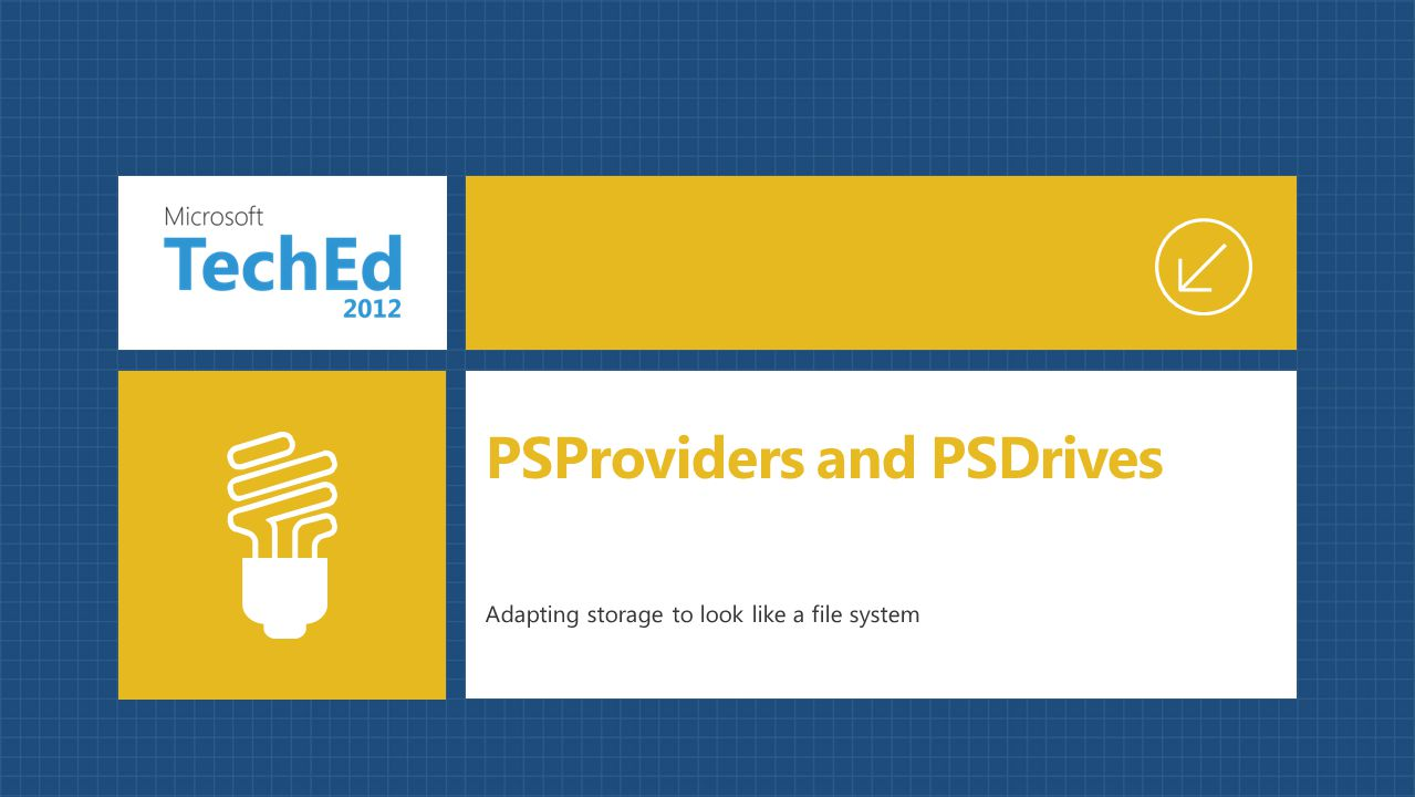 Adapting storage to look like a file system PSProviders and PSDrives