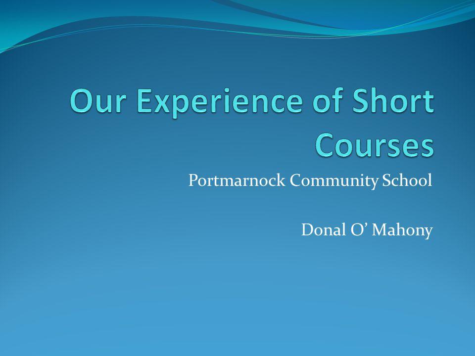 Portmarnock Community School Donal O Mahony