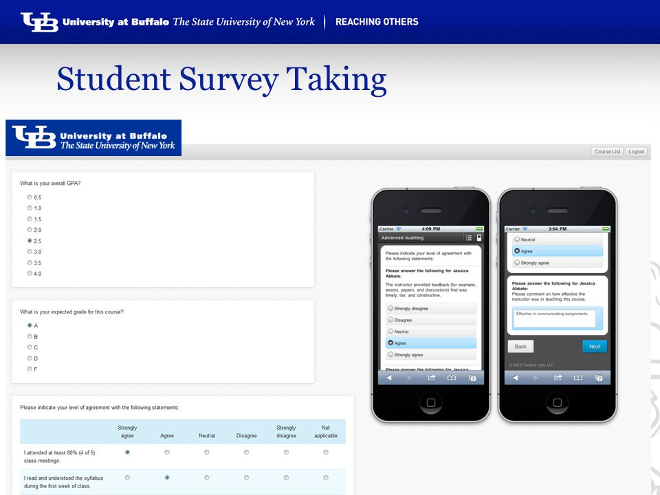 Student Survey Taking