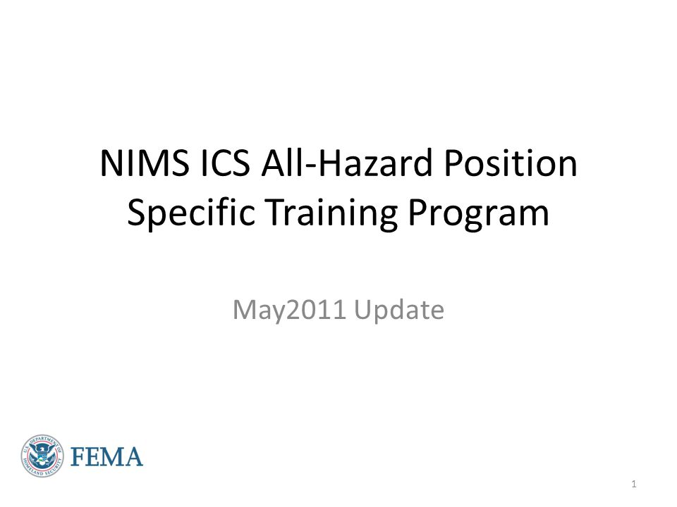 History of the NIMS ICS All-Hazards Position Specific Training Program September 11, 2001 - World Trade Center - Pentagon Hurricanes Katrina and Rita (2005) Development of a National Credentialing System 2