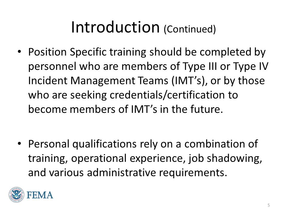 Position Specific Website URL: http://training.fema.gov/AllHazards/cr1ecrlu/http://training.fema.gov/AllHazards/cr1ecrlu/ Four links: - Administrative Guidelines for the program - Schedule, class dates and locations - Instructor database (password protected) - 15 Position Specific courses (password protected) 16