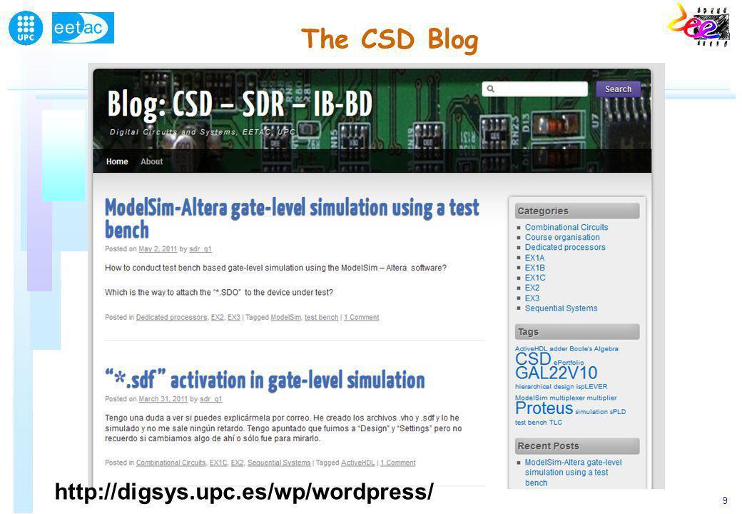 9 The CSD Blog http://digsys.upc.es/wp/wordpress/