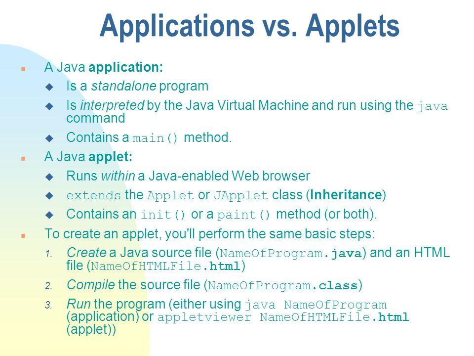 Applications vs.