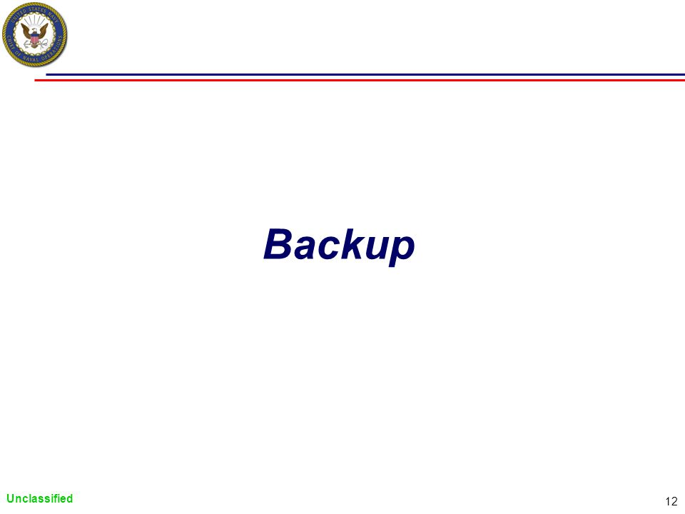 Unclassified 12 Backup
