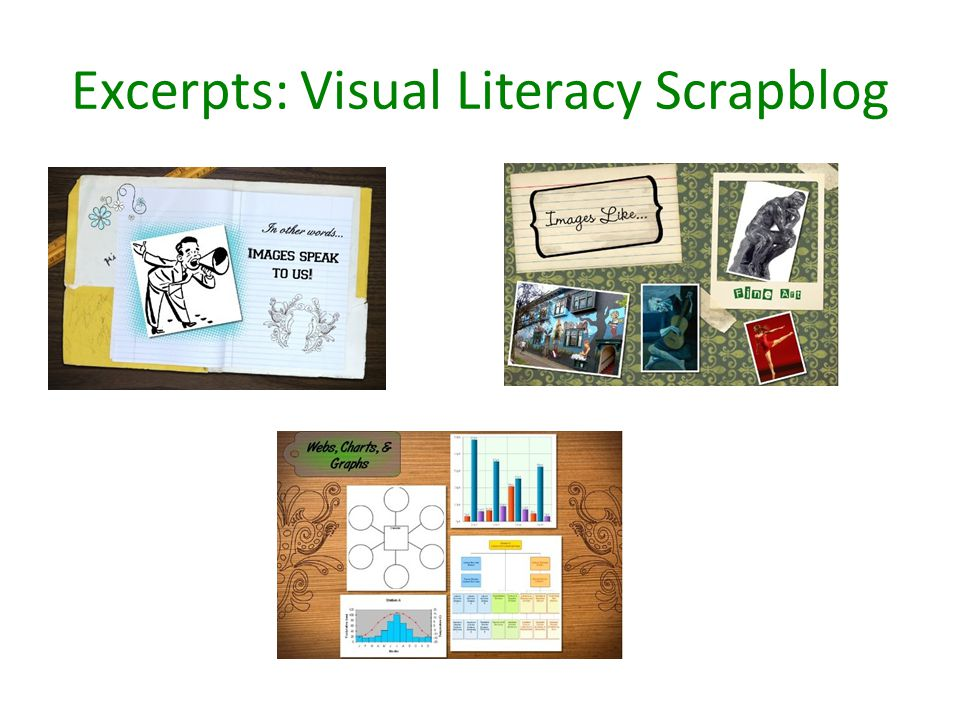 Excerpts: Visual Literacy Scrapblog