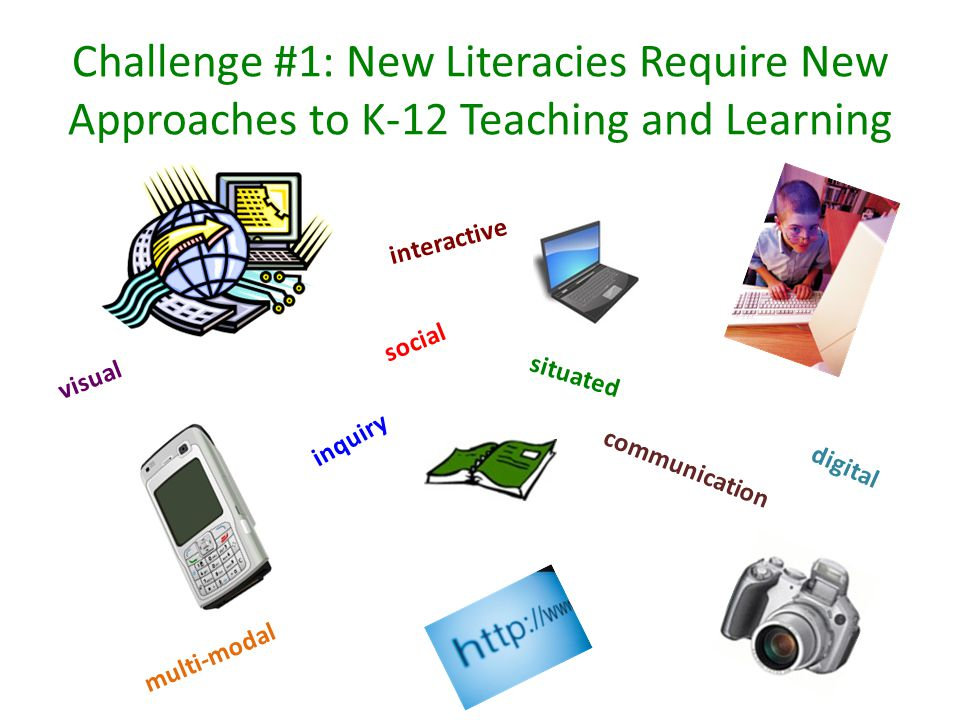 Teachers need to… go beyond teaching students to engage in traditional practices of reading, writing, speaking, listening and viewing recognize the social, situated nature of multiple literacies both in and out of school use technologies to create multi-modal social environments for inquiry and communication Image: http://blog.bluephoenixnetwork.com/2010/05/27/text-messages-in-the-classroom-educational-tool-or-liability/