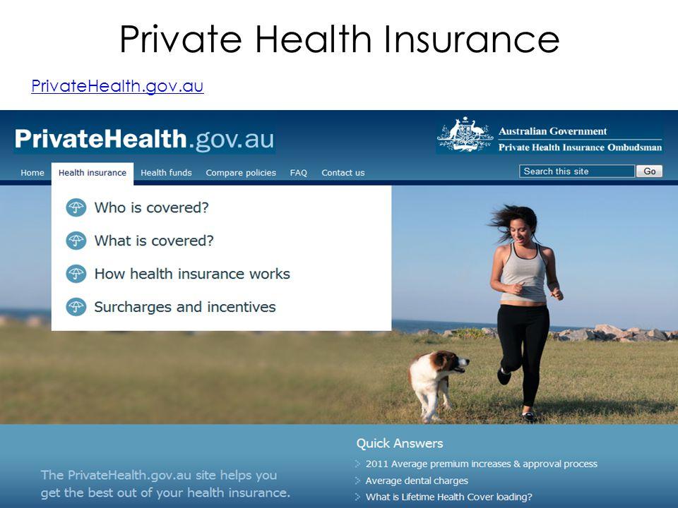 Private Health Insurance PrivateHealth.gov.au