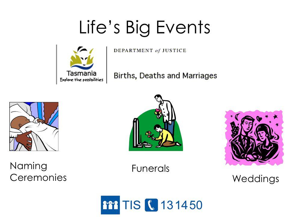 Lifes Big Events Funerals Weddings Naming Ceremonies