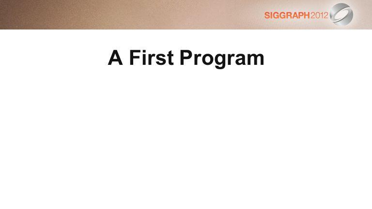 A First Program