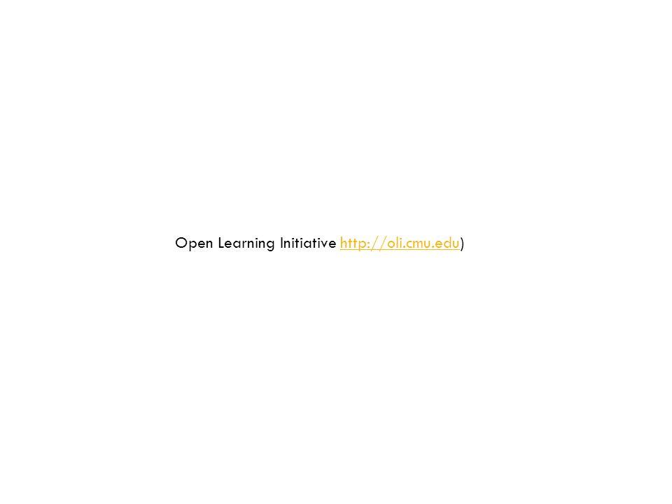 Open Learning Initiative http://oli.cmu.edu)http://oli.cmu.edu