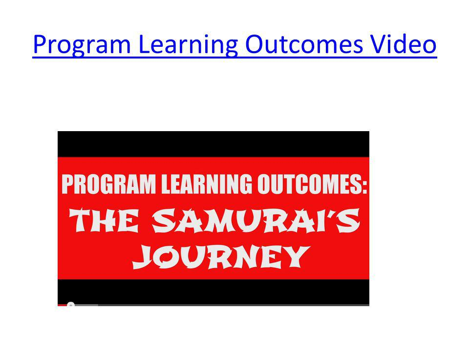 Program Learning Outcomes Video