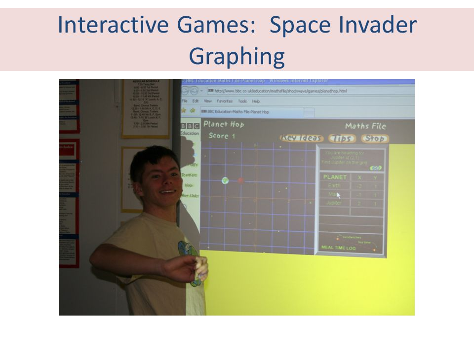 Interactive Games: Space Invader Graphing