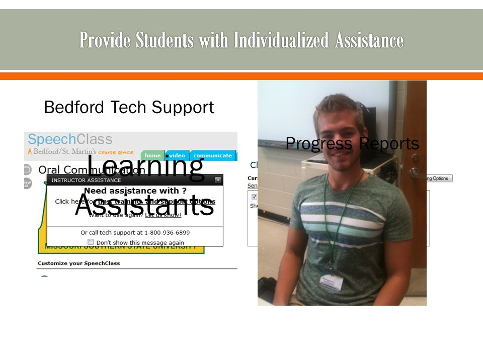 Bedford Tech Support Learning Assistants Progress Reports
