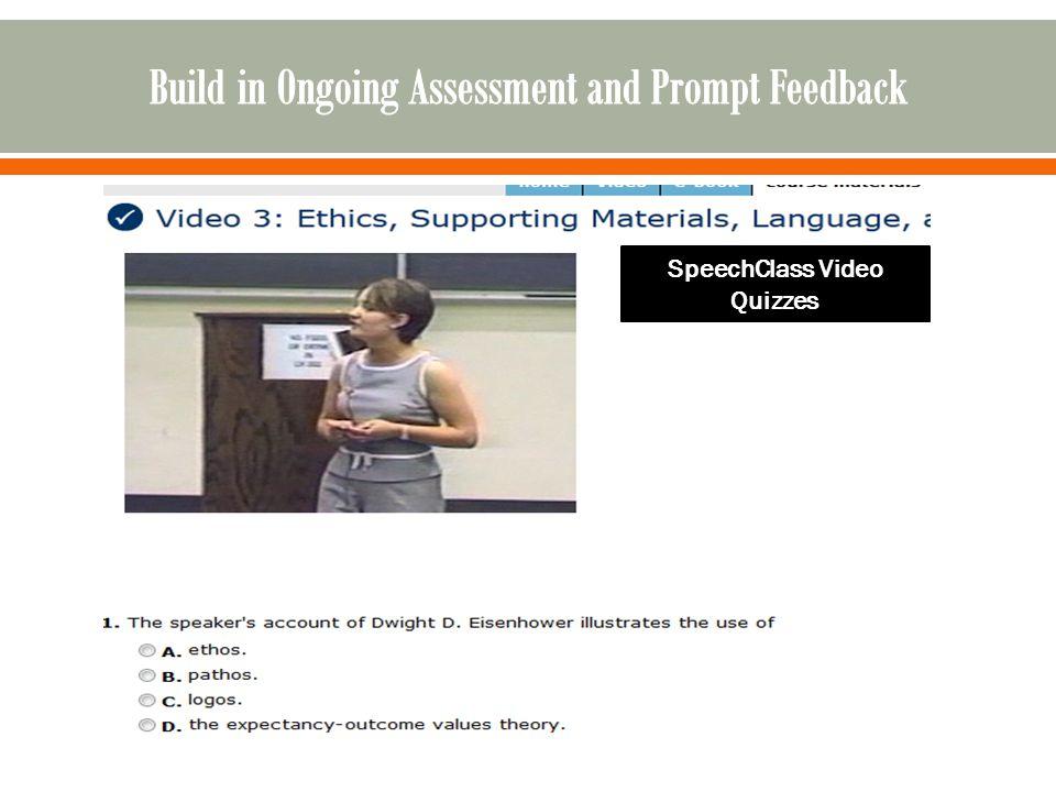 SpeechClass Video Quizzes