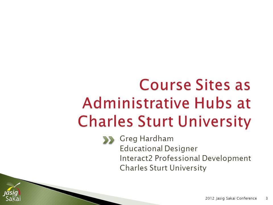 3 Greg Hardham Educational Designer Interact2 Professional Development Charles Sturt University