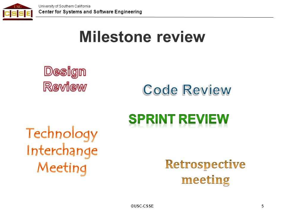 University of Southern California Center for Systems and Software Engineering Marks Allocation (C)USC-CSSE86 Category% Individual Score (HW/In-Class)23% Individual Critique11% Tech Talk & Pair Research Presentation11% Individual Contribution5% Team Score45% Client Evaluation5% 100%