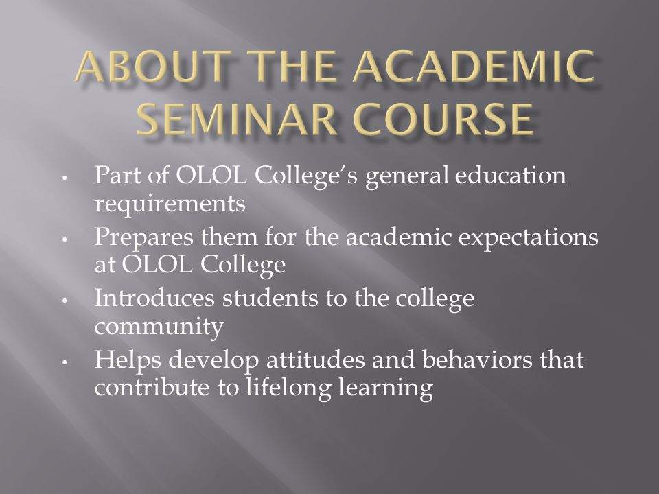 Does this course prepare our students for academic success.