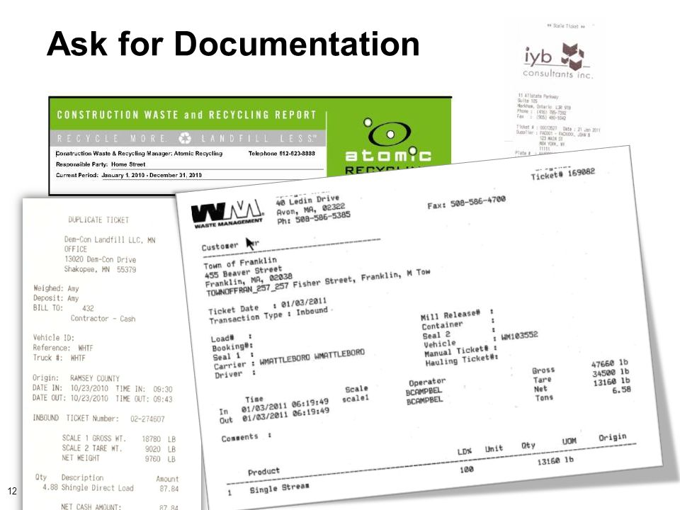 Ask for Documentation 12