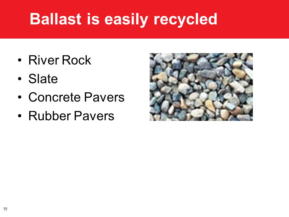 Ballast is easily recycled River Rock Slate Concrete Pavers Rubber Pavers 19