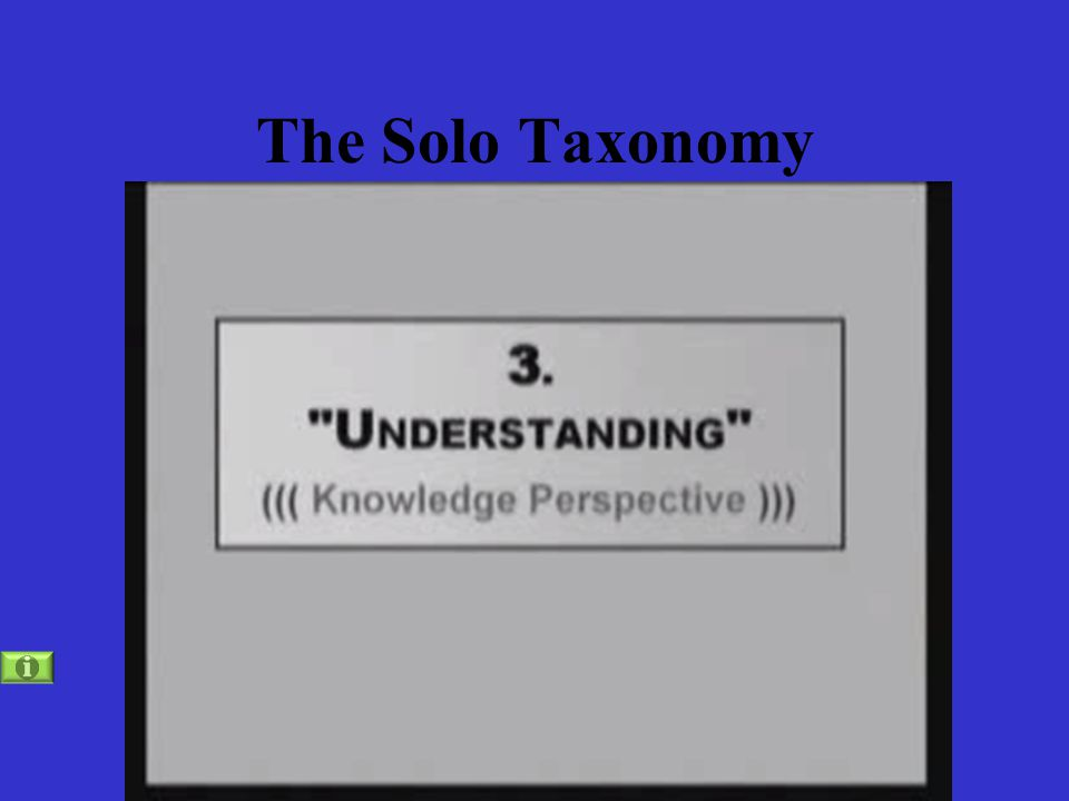 The Solo Taxonomy