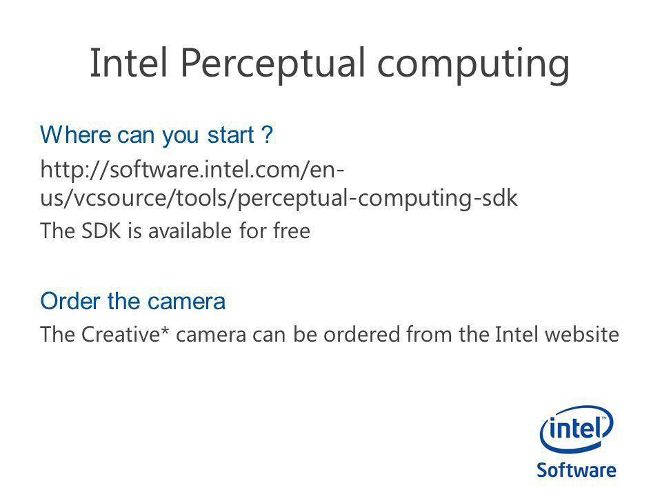 Intel Perceptual computing Where can you start .