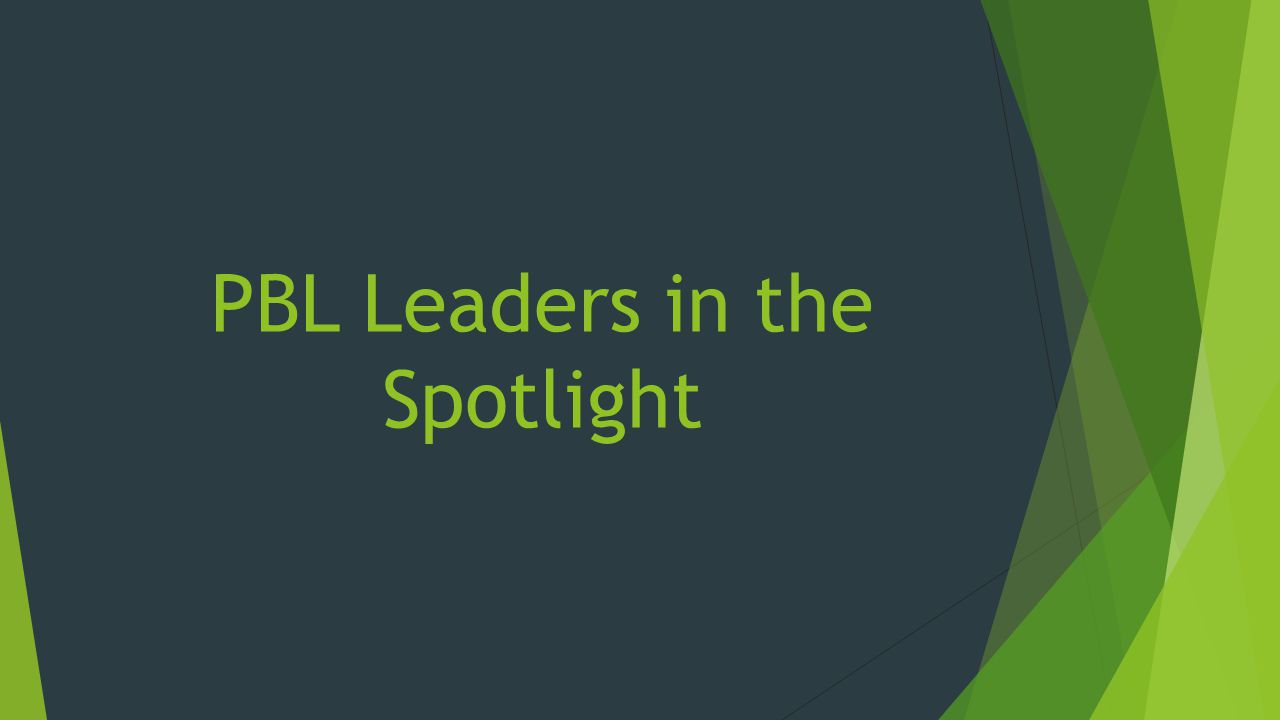 PBL Leaders in the Spotlight