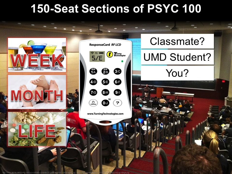 150-Seat Sections of PSYC 100 http://www.ashleypettitliving.com/wp-content/uploads/2011/06/alcoholic-beverages.jpg http://img.gawkerassets.com/img/181r8oee0jpbdjpg/xlarge.jpg Classmate.