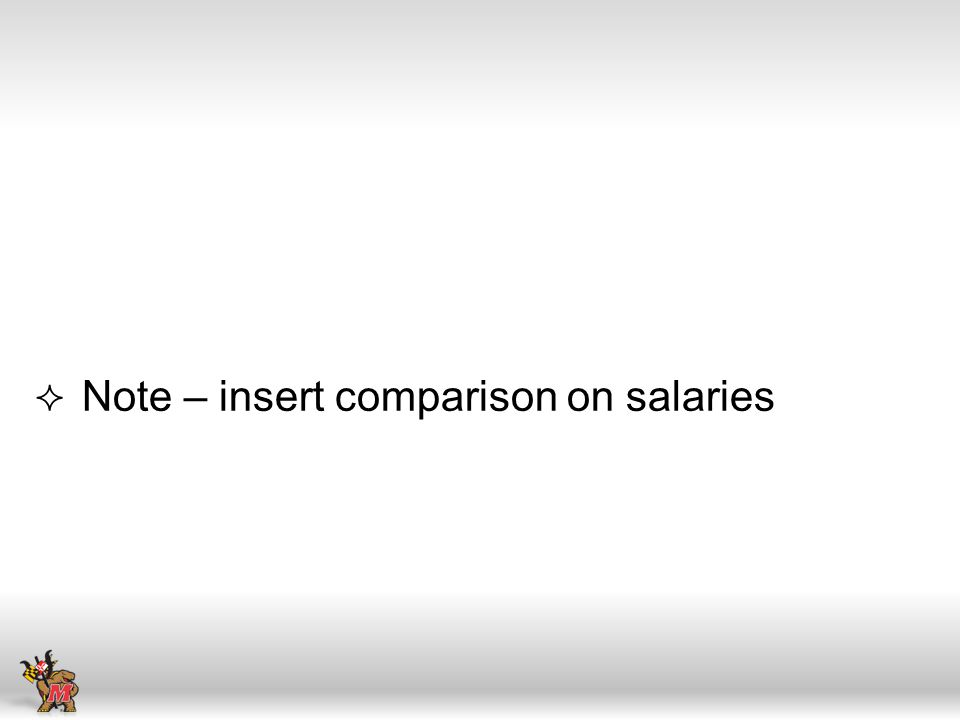 Note – insert comparison on salaries
