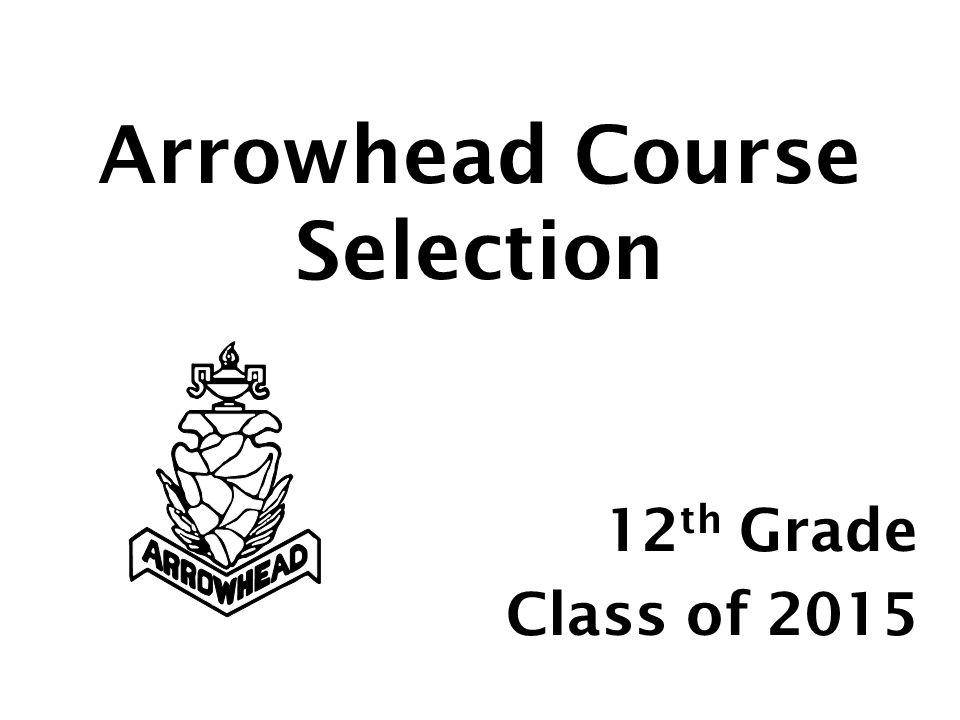 Arrowhead Course Selection 12 th Grade Class of 2015