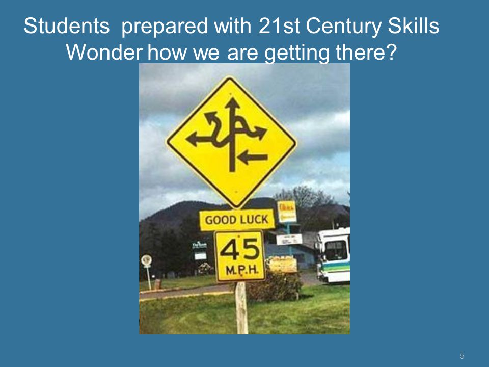 5 Students prepared with 21st Century Skills Wonder how we are getting there?