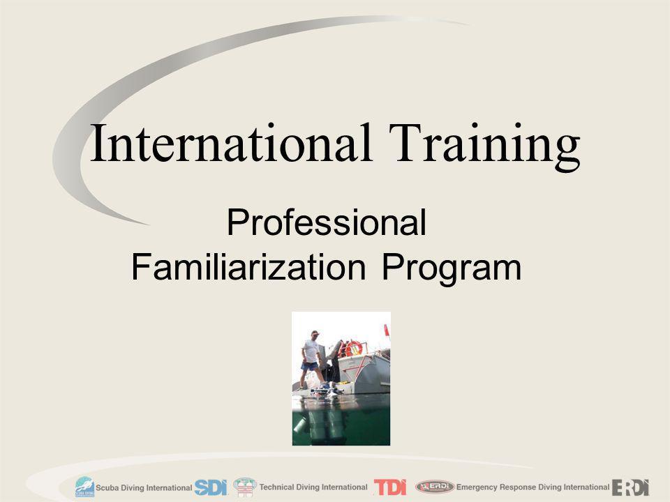 Welcome to the SDI/TDI/ERDI Familiarization course.