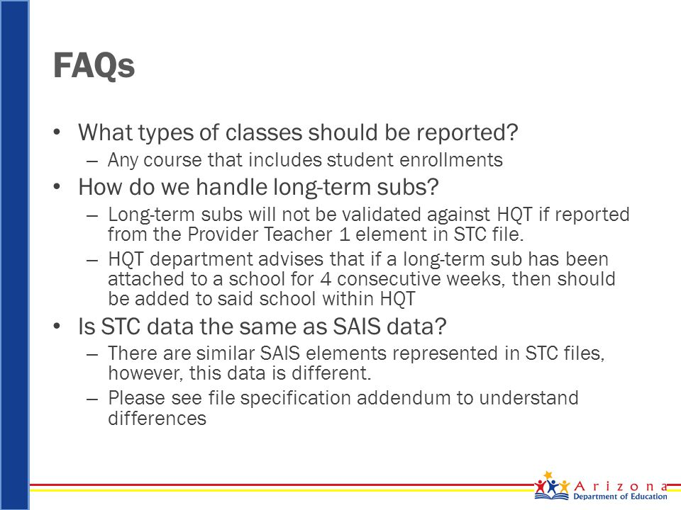 FAQs What types of classes should be reported.