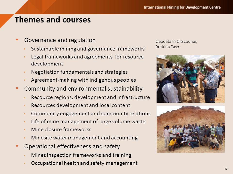 Governance and regulation Sustainable mining and governance frameworks Legal frameworks and agreements for resource development Negotiation fundamenta