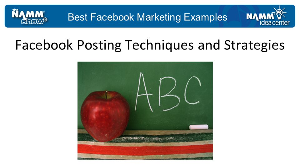 Best Facebook Marketing Examples Make your cover images memorable.