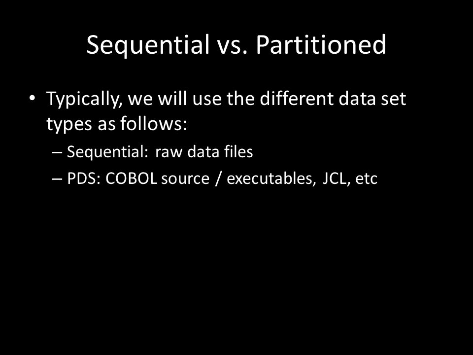 Sequential vs.