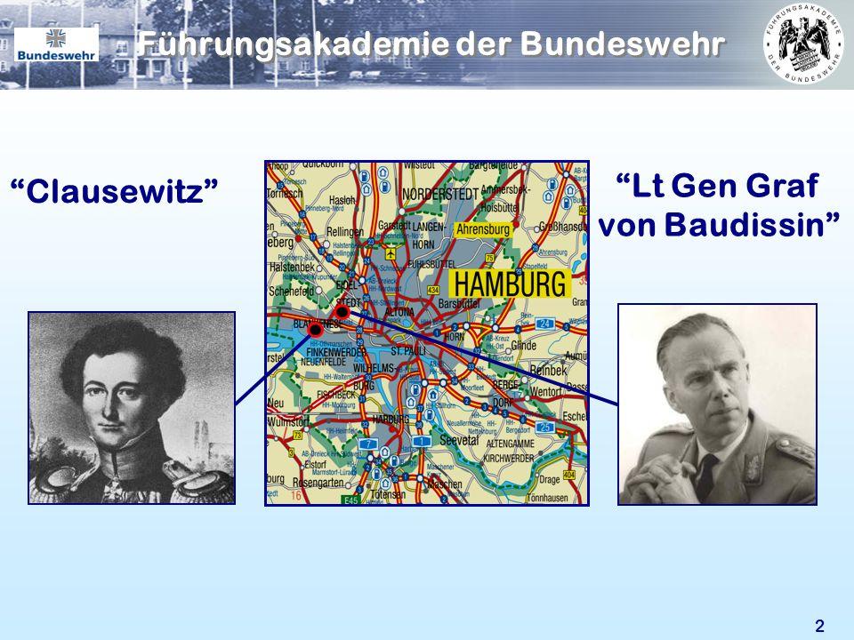 2 Clausewitz Lt Gen Graf von Baudissin Führungsakademie der Bundeswehr