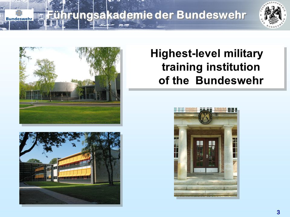 33 Highest-level military training institution of the Bundeswehr