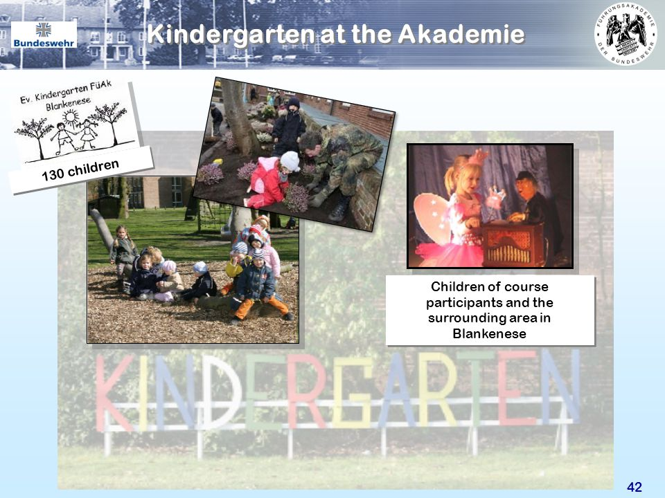 42 Kindergarten at the Akademie Children of course participants and the surrounding area in Blankenese 130 children